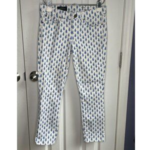 J. Crew Toothpick Jeans in Thistle Print